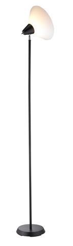 Adesso Inc., - Adesso Swivel One Light Floor Lamp in Black - 3677-01