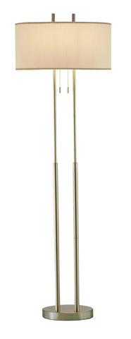 Adesso Inc., - Adesso Duet Two Light Floor Lamp in Satin Steel - 4016-22