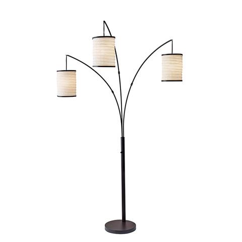 Adesso Inc., - Adesso Bellows Three Light Arc Floor Lamp - 4153-26