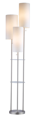 Adesso Inc., - Adesso Trio Three Light Floor Lamp in Satin Steel - 4305-22