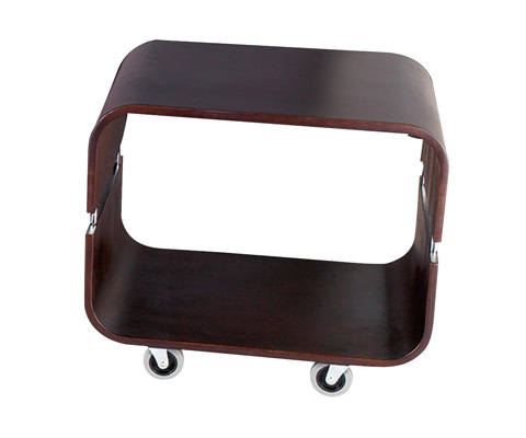 Adesso Inc., - Adesso Contour Rolling End Table in Walnut - WK2005-15