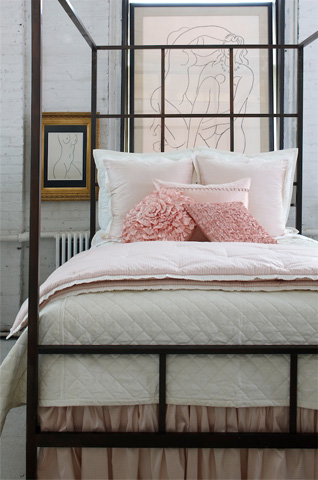 Ann Gish - Quilted Linen Coverlet - COLQK