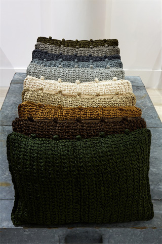 Ann Gish - Knitted Silk Pillow - PWKS1612