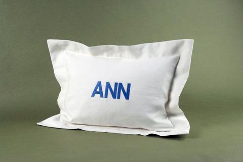 Ann Gish - Linen Flanged Pillow - PWLI2014