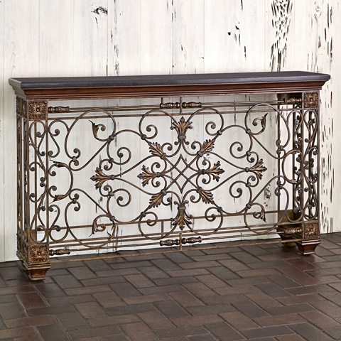 Ambella Home Collection - Rockefeller Console Sofa Table - 02133-850-001
