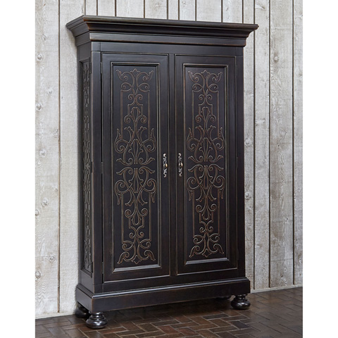 Ambella Home Collection - Scrollwork Gate Armoire Storage Cabinet - 02197-260-001