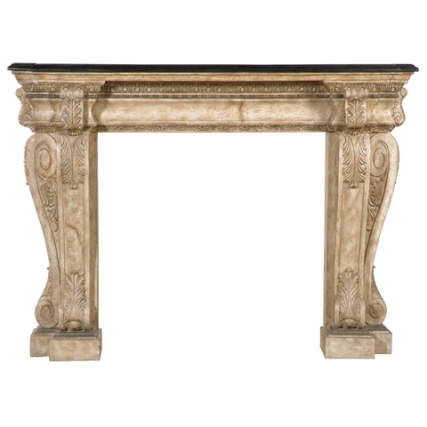 Ambella Home Collection - Brookstone Fireplace Surround Décor - 01192-420-084