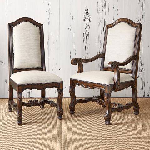 Ambella Home Collection - Avignon Side Chair in Balsamo Rain - 10124-610-005