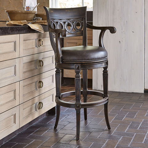 Ambella Home Collection - Rochelle Swivel Barstool - 20104-510-001