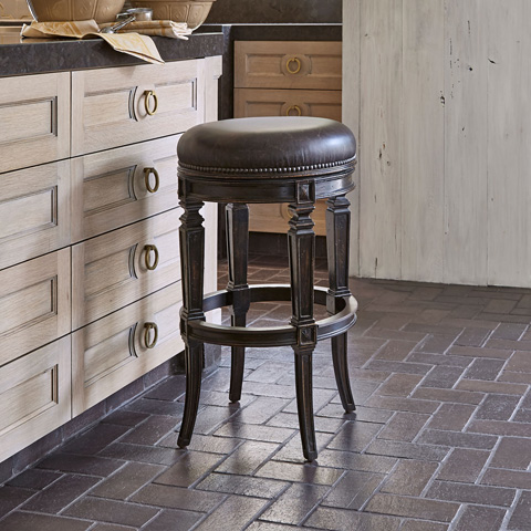 Ambella Home Collection - Rochelle Swivel Barstool - 20104-518-001