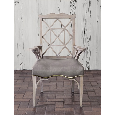 Ambella Home Collection - 18th Century Arm Chair in Grey - 58020-620-002