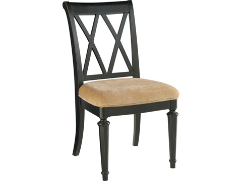 American Drew - Camden Dark Splat Back Side Chair - 919-636