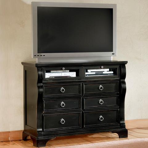 American Woodcrafters - Heirloom Black Media Cabinet - 2900-232