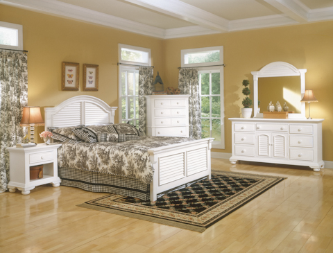 American Woodcrafters - Cottage Traditions Panel Bedroom Set - 6510 SETS