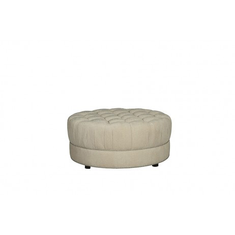 A.R.T. Furniture - Amanda Ivory Round Cocktail Ottoman - 204504-5008AA