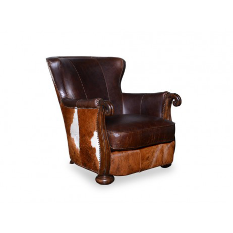 A.R.T. Furniture - Kennedy Walnut Brindle Hair on Hide Chair - 505514-5104AA