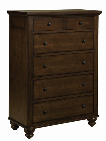 Aspenhome - Cambridge 5 Drawer Chest with Bun Feet - ICB-456-BCH