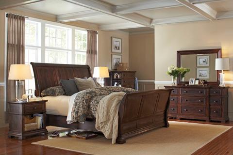 Aspenhome - Queen Sleigh Bed - I59-BED