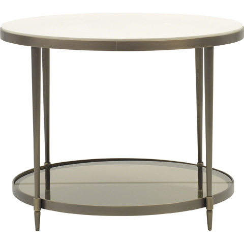 Baker Furniture - Oberon Round End Table - 3659