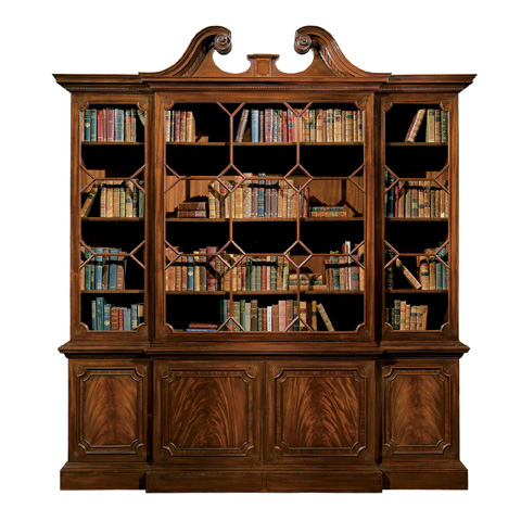 Baker Furniture - Chippendale Mahogany Bookcase - 5093