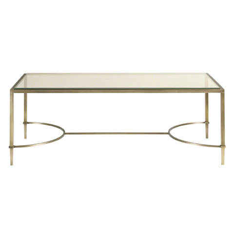 Baker Furniture - Paris Glass Top Coffee Table - 7898