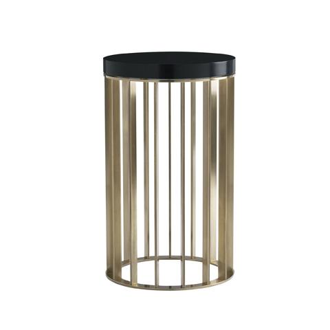 Baker Furniture - Brass Round Drink Table - 9369