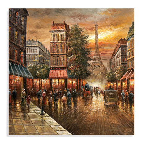 Bassett Mirror Company - Paris Nights Canvas - 7200-662