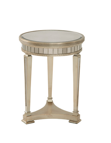 Bassett Mirror Company - Borghese Round Mirrored End Table - 8311-220