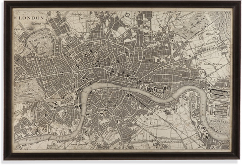 Bassett Mirror Company - Vintage Map of London - 9900-262