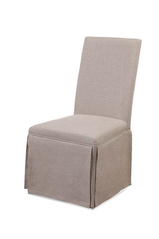 Bassett Mirror Company - Skirted Parsons Chair - DPCH8-739