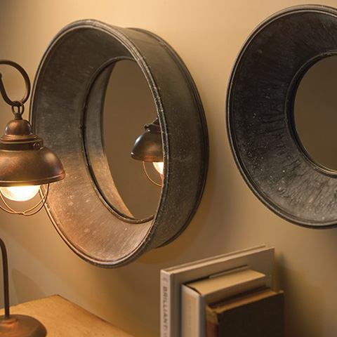 Bassett Mirror Company - Set of Two Porthole Wall Mirrors - M3462