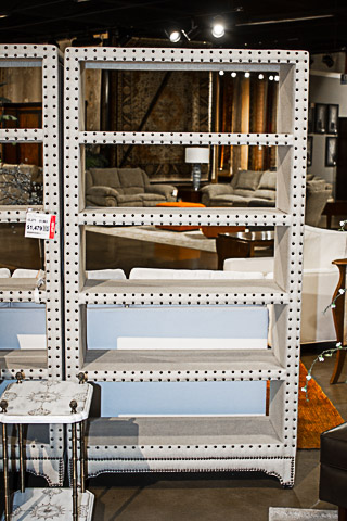 Bassett Mirror Company - Hampton Natural Linen Tailored Open Bookcase - T2619-500