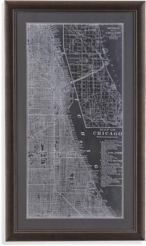 Bassett Mirror Company - Graphic Map of Chicago - 9900-487C