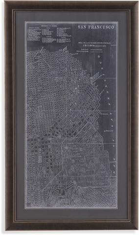 Bassett Mirror Company - Graphic Map of San Francisco - 9900-487E