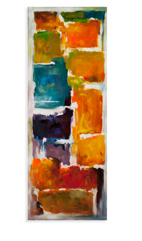Bassett Mirror Company - Colorful Blocks Art - 7300-192A