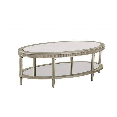 Bassett Mirror Company - Vanesta Oval Cocktail Table - 3182-140