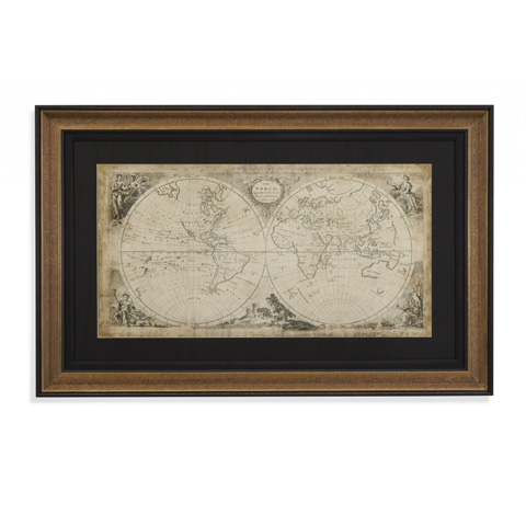 Bassett Mirror Company - World Discoveries Map - 9900-615