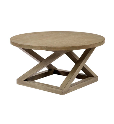 Belle Meade Signature - Landon Architectural Plank Top Cocktail Table - 5008