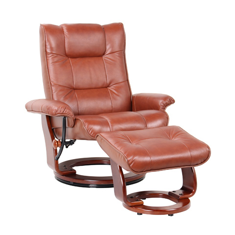 Benchmaster Furniture - Monterey Cognac Swivel Glider - 7016-034-29