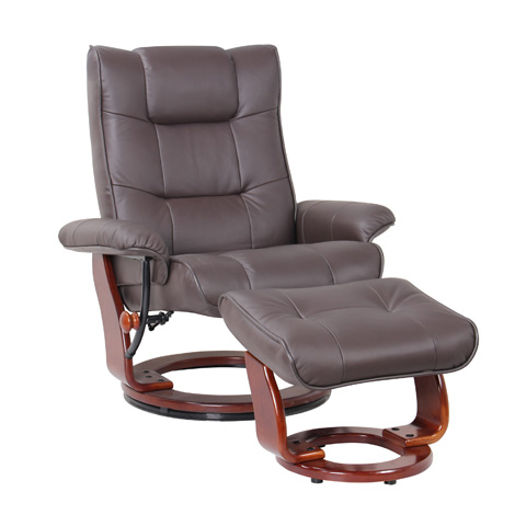 Benchmaster Furniture - Monterey Kona Brown Swivel Glider - 7016-073-29