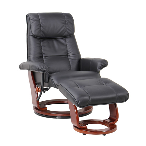 Benchmaster Furniture - Ventura Black Swivel Glider - 7036-001-29