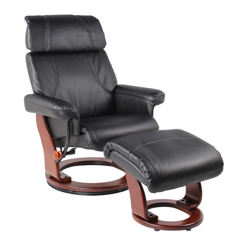 Benchmaster Furniture - Bella Black Recliner - 7511F-001AF-29