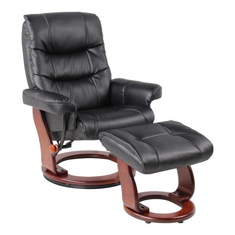 Benchmaster Furniture - Rosa Black Recliner - 7583D-001AF-29