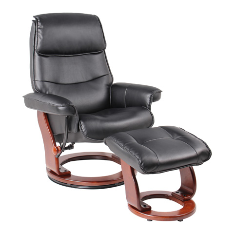 Benchmaster Furniture - Katy Black Recliner - 7651A-001AF-29