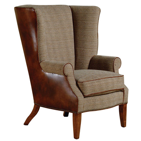 Emerson Bentley - Retreat Leather and Fabric Chair - 726-01