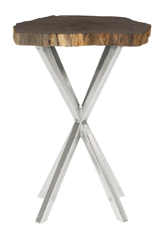 Bernhardt - Black Petrified Chairside Table - 336-104