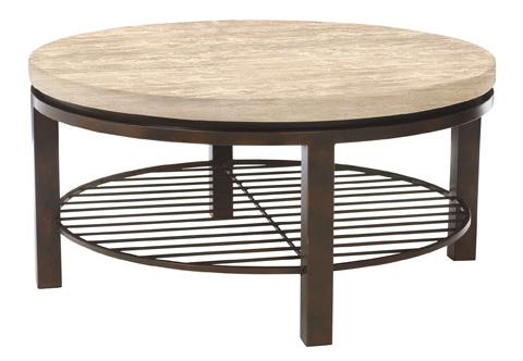 Bernhardt - Tempo Travertine Round Cocktail Table - 498-015