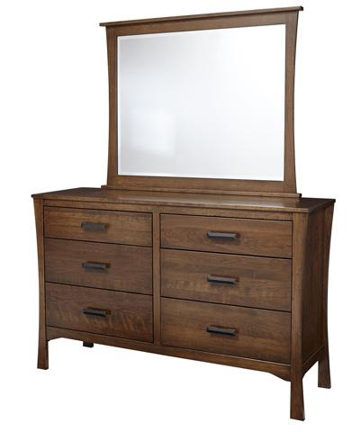Borkholder Furniture - Lansing Beveled Dresser Mirror - 43-2001XXX