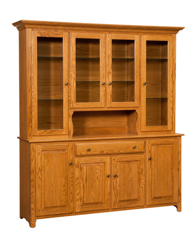 Borkholder Furniture - Traditional Four Door Hutch and Buffet - NC-1104HBX