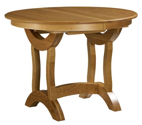 Borkholder Furniture - Crescent Round Trestle Solid Top Pub Table - NC-1310STX